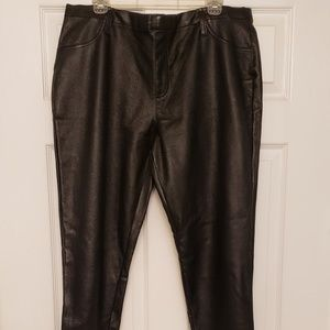 Faded Glory Plus Size Faux Leather Pants